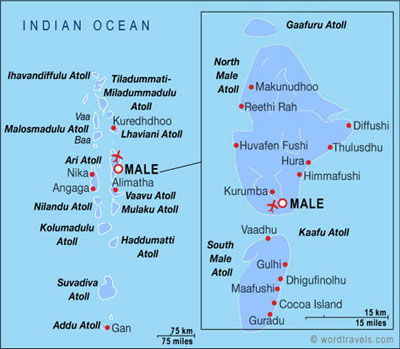 Maldives Map Get to know the Maldives Geography